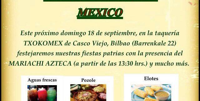 Día de la Independencia de México en Txokomex
